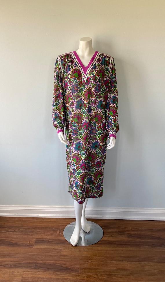 Vintage 1980s Dress, Gibi Roma, 1980s Dress, Long… - image 2
