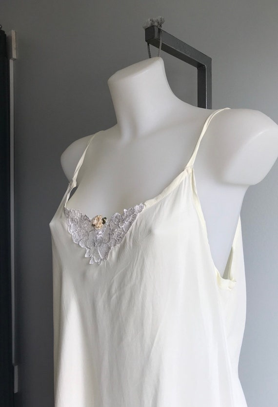 Vintage Cream Nightgown, Ivory Nightgown, Custom … - image 4