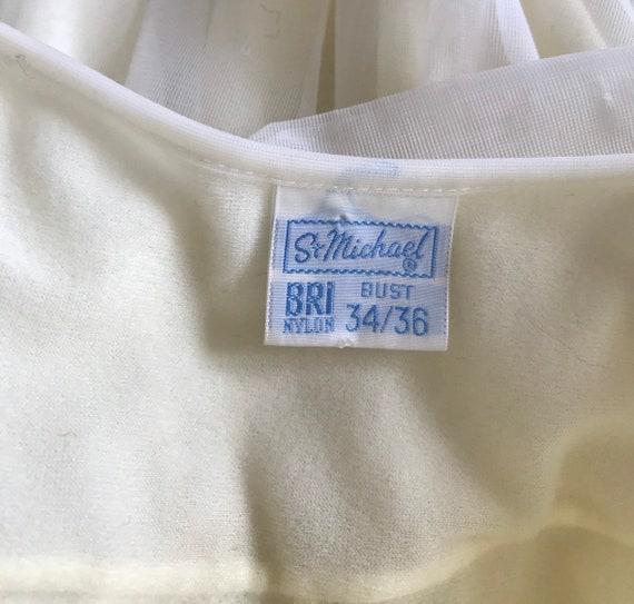 Vintage Chiffon Nightgown, St Michael, Pale Yello… - image 10
