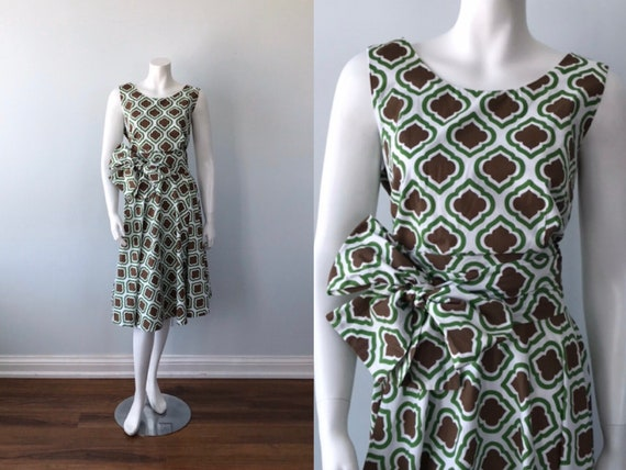 Vintage Cotton Dress, Summer Dress, 1980s Dress, C