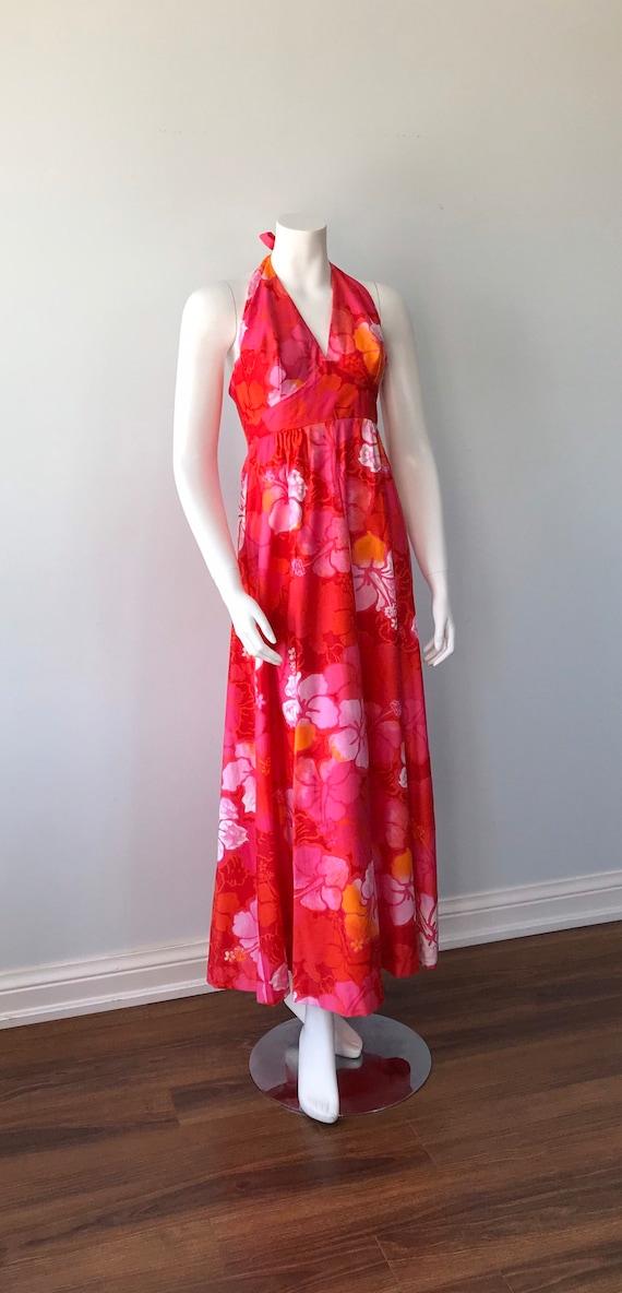 Vintage Halter Dress, Wika of Hawaii Ltd, 1960s H… - image 5