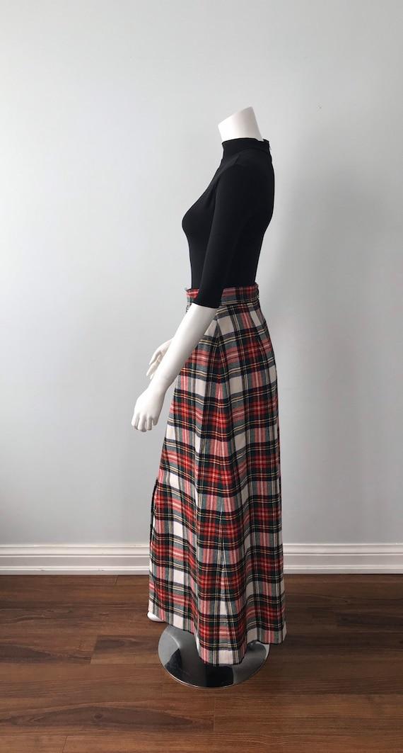 Vintage Plaid Maxi Skirt, Mister Leonard, 1970s M… - image 4
