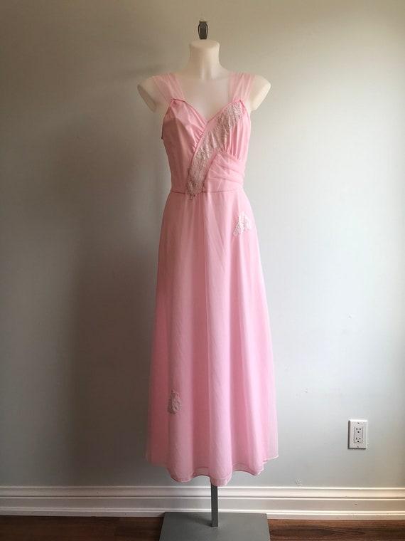 Vintage Nightgown, Vintage Lingerie, 1960s Nightg… - image 3