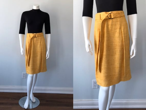 Vintage Silk Skirt, Akris Punto, 1980s Skirt, Casu