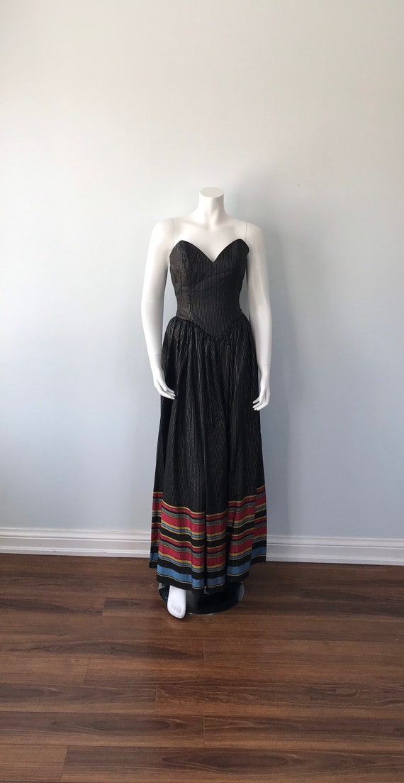 Vintage 1970s Maxi Dress, Strapless Maxi Dress, B… - image 3