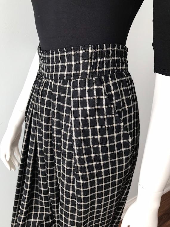 Vintage Kenzo Ladies Pants, Black and White Check… - image 7