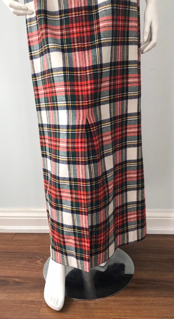 Vintage Plaid Maxi Skirt, Mister Leonard, 1970s M… - image 7