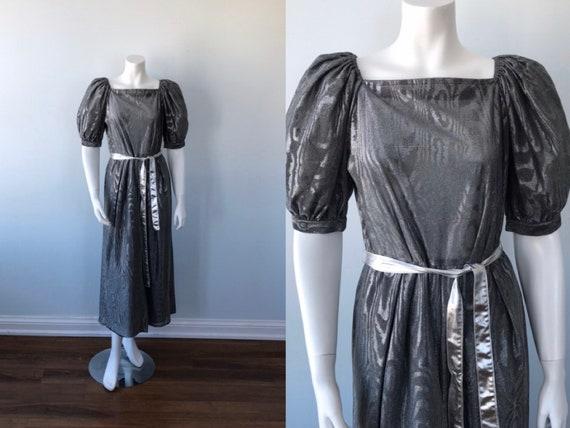 Title Original Silver Metallic Dress, Title Origin