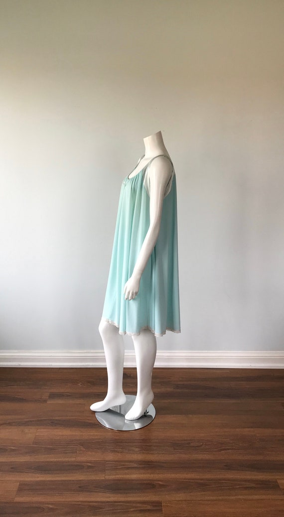 Vintage Lucie Ann Nightgown, Mint Green Nightgown… - image 5