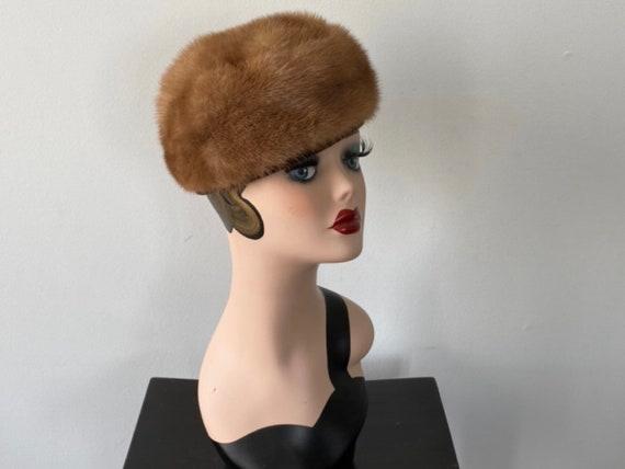 Vintage Mink Hat, Francette Originals, 1960s Mink