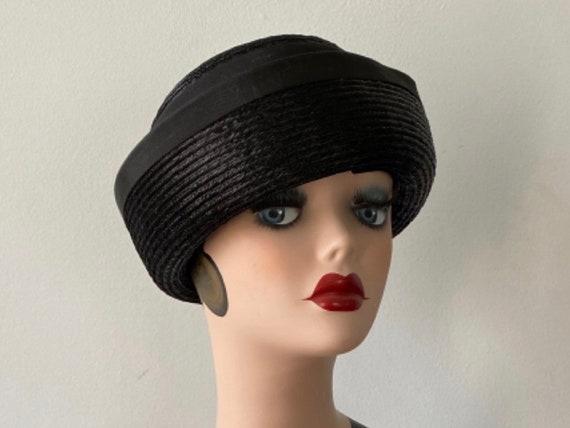 1960s Black Hat, Simpson's, Vintage Hat, Ladies Ha