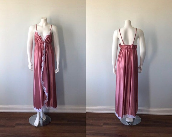 Vintage Deep Pink Nightgown, Cahill, 1970s Nightgo