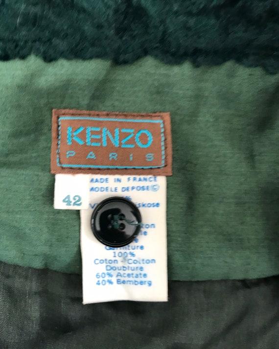 Vintage Green Velvet Skirt, 1970s Skirt, Kenzo Pa… - image 6