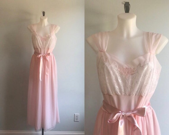 Vintage Nightgown, Vintage Nightgowns, 1950s Night