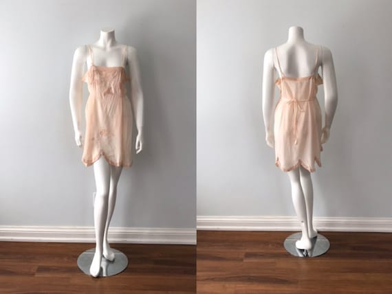 Vintage Short Nightgown, 1930s Nightgown, Love Joy