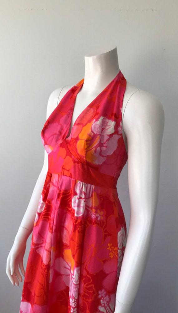Vintage Halter Dress, Wika of Hawaii Ltd, 1960s H… - image 6