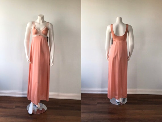 Dusty Pink Nightgown, Kayser, 1980s Nightgown, Vin