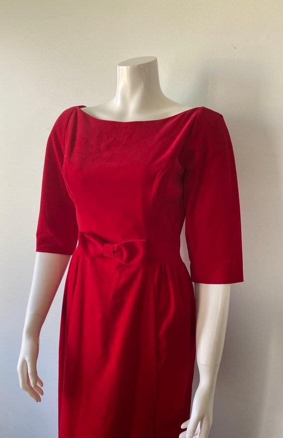 1950s Red Velvet Evening Gown, Lorrie Deb SAN Fra… - image 6