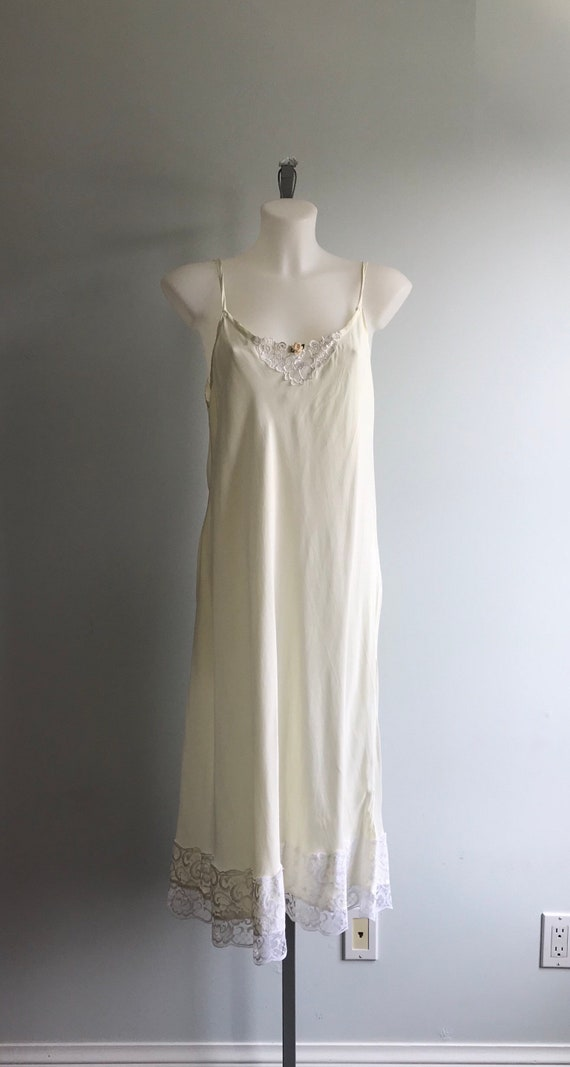 Vintage Cream Nightgown, Ivory Nightgown, Custom … - image 2