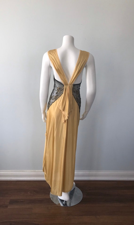 Vintage Nightgown, Luxite, 1950s Nightgown, Gold … - image 8