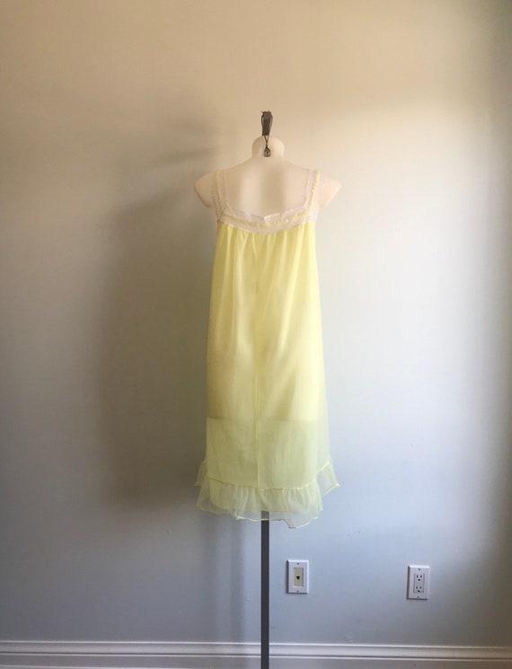 Vintage Chiffon Nightgown, 1960s Chiffon Nightgow… - image 7