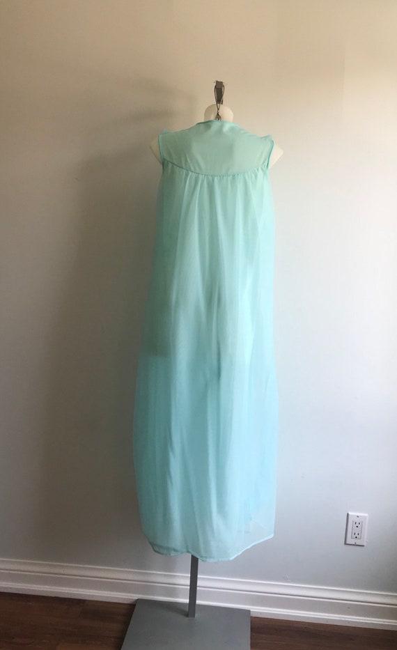 Vintage Nightgown, Vintage Chiffon Nightgown, Aqu… - image 6