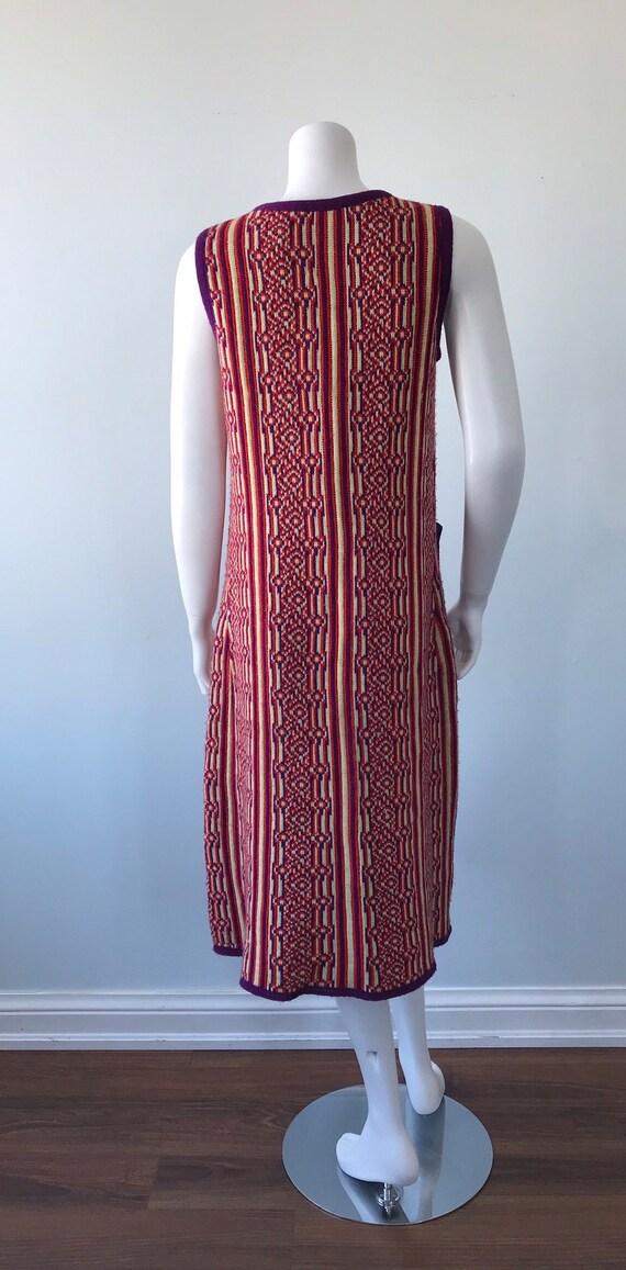 1960s Knit Long Vest, 1960s Wool Vest, Favorite K… - image 7