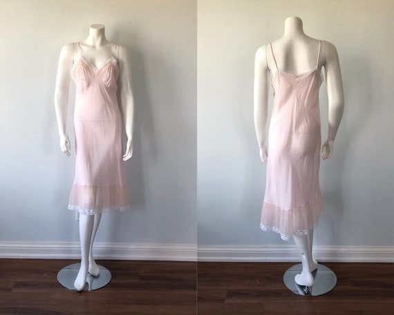Vintage Pink Full Slip, Vintage Slip, Pink Full Sl
