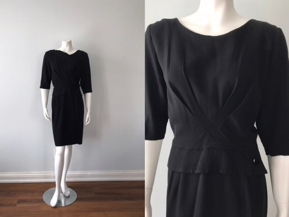 1960s Samuel Cooper Black Cocktail Dress, 1960s Co