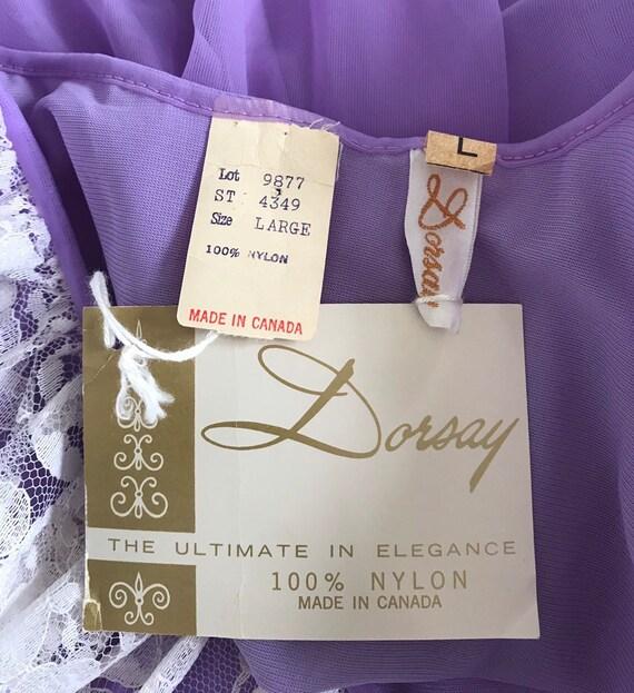 Vintage Chiffon Nightgown, Dorsay, Purple Chiffon… - image 9