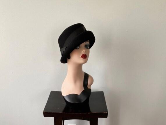 Vintage Black Bucket Hat, Charm Model Montreal, Bl