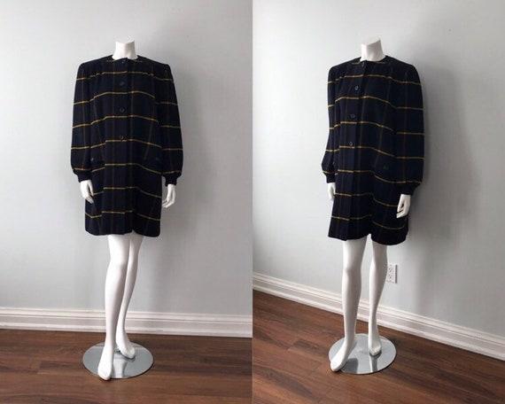 Valentino, Vintage Valentino Wool Coat, Vintage Va