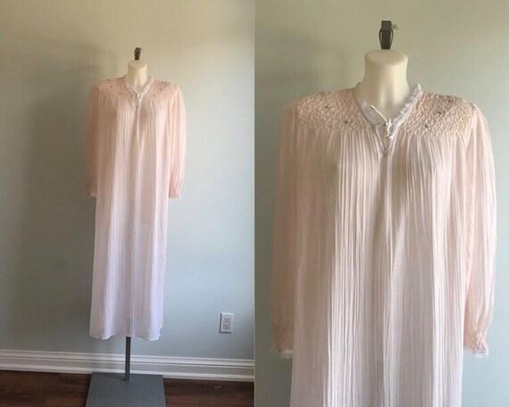 Vintage  Pink Nightgown, Linda Lingerie, 1980s Nig