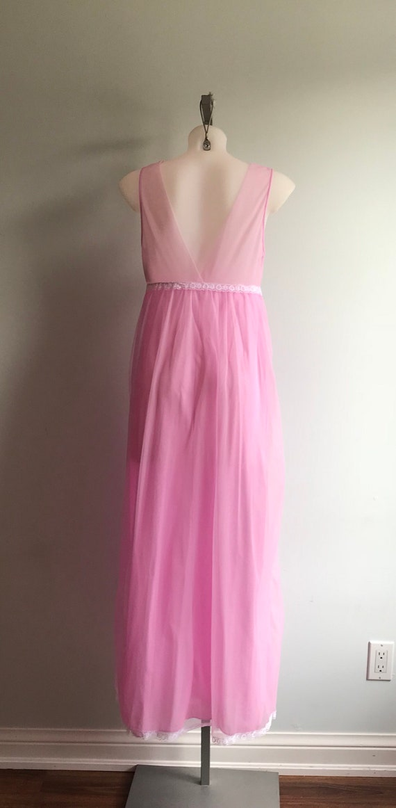Vintage Chiffon Nightgown, 1960s Nightgown, Orchi… - image 6