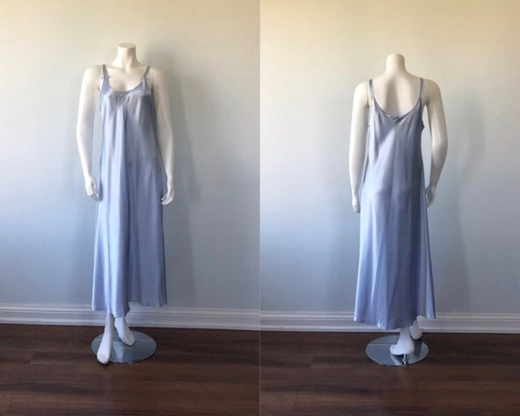 Vintage Blue Nightgown, Christian Dior, 1970s Nigh