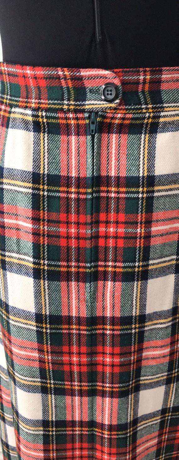 Vintage Plaid Maxi Skirt, Mister Leonard, 1970s M… - image 8