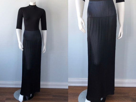 Vintage Black Pleated Skirt, Black Pleated Skirt,