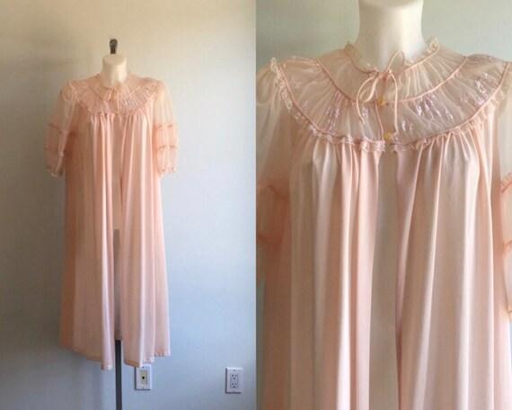Vintage Luxite Pink Peignoir/Robe, Luxite, 1950s R