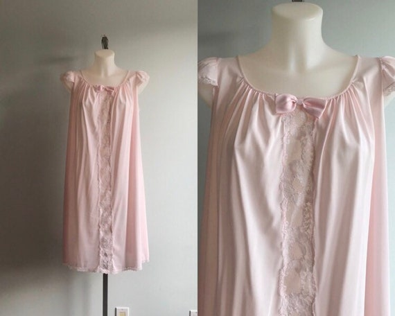 Vintage Nightgown, Vintage Pink Nightgown, Harvey