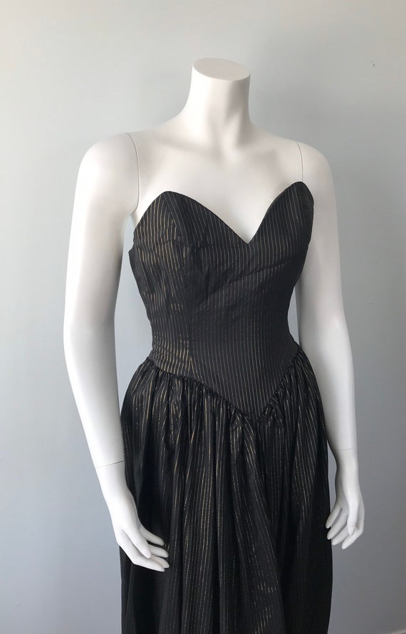 Vintage 1970s Maxi Dress, Strapless Maxi Dress, B… - image 5