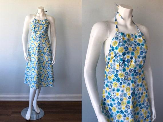 Vintage Halter Dress, 1970s Halter Dress, Casual D