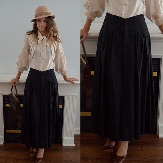 1970s Black Taffeta Tea Length Skirt, Lipton's, 19