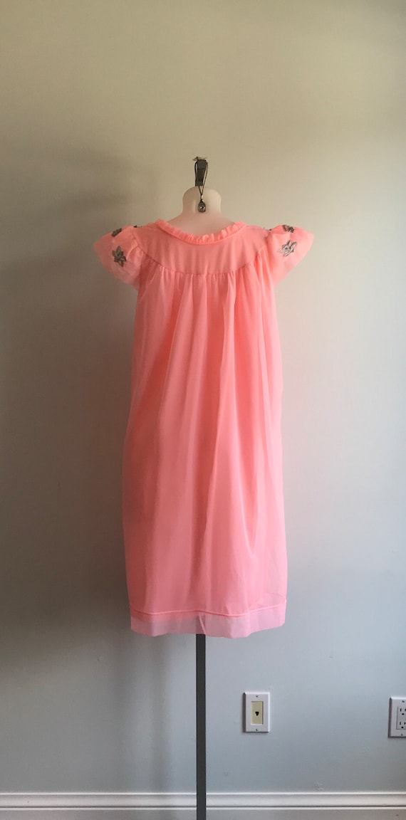 1960s Pink Chiffon Nightgown, Canadian Maid, 1960… - image 6