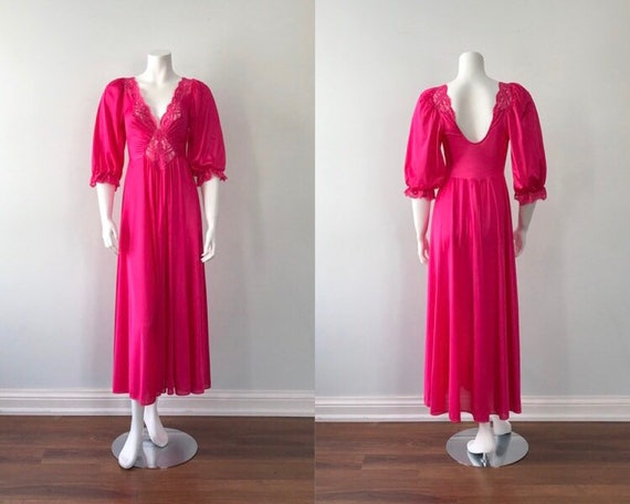 Vintage Olga Nightgown, Olga, Pink Nightgown, Vint