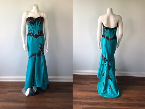 Vintage Evening Gown, Wedding, Formal Gown, Prom D