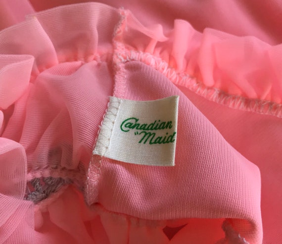 1960s Pink Chiffon Nightgown, Canadian Maid, 1960… - image 7
