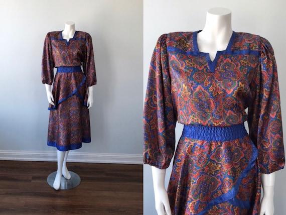 Vintage Peplum Dress, Diane Freis, Diane Freis Ori