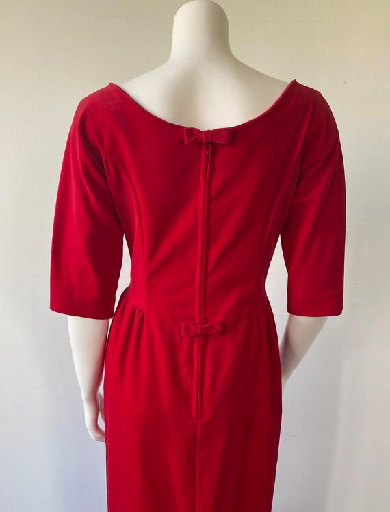 1950s Red Velvet Evening Gown, Lorrie Deb SAN Fra… - image 9