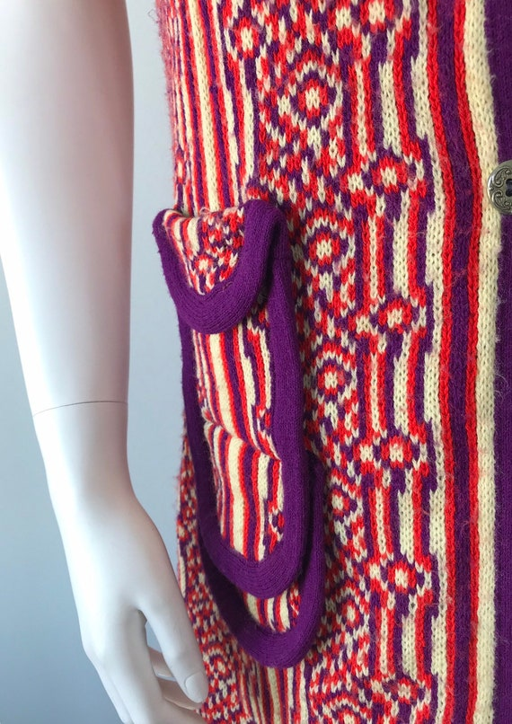 1960s Knit Long Vest, 1960s Wool Vest, Favorite K… - image 8