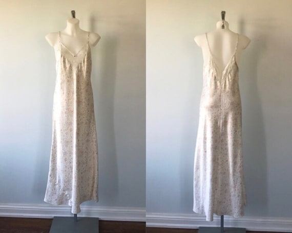 Vintage Floral Nightgown, Olga, Vintage Nightgown,
